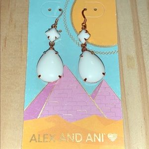 Alex And Ani Earrings Birch Dewdrop